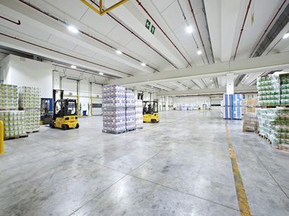 Led lighting for industrial warehouses