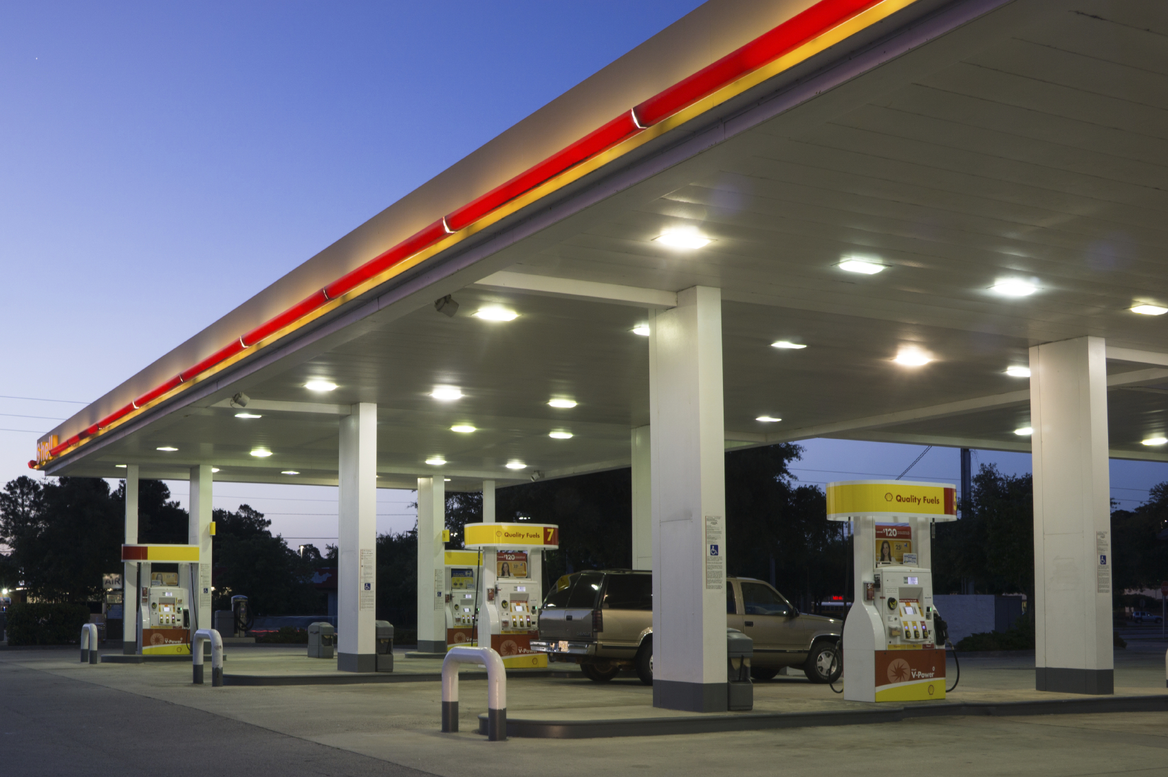LED Lighting for Petrol Stations - Big Green Switch