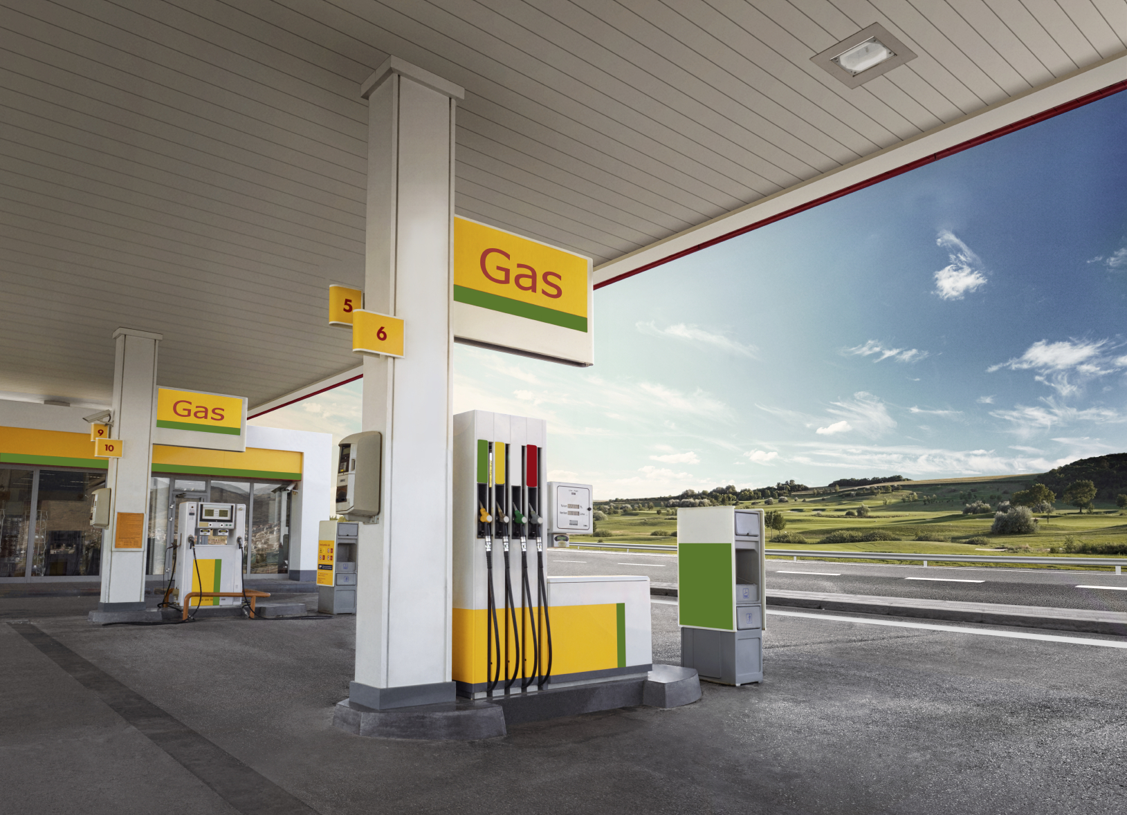 Solar power for petrol stations